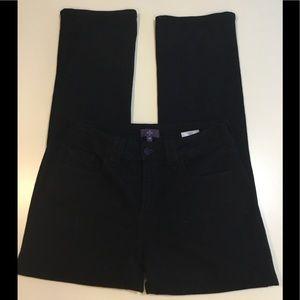 NYDJ Black 4P Straight Jeans